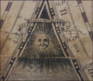 """Dalla """"Nova Totivs Orbis Terrarvm Tabula"""", il dettaglio dell'impresa della Regina Cristina di Svevia, tratto dalla mappa romana usata da Longhi come modello e riportato nella mappa bolognese."""